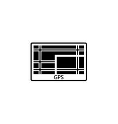 gps navigation solid icon car element navigator vector image
