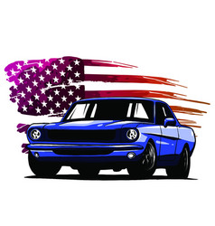 graphic design an american vector image