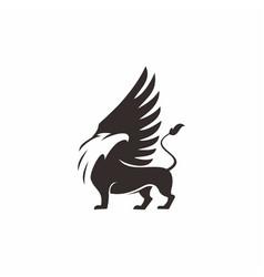 Griffin mythology creatures vector