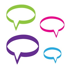 Hand drawn bubble dialog icon vector image