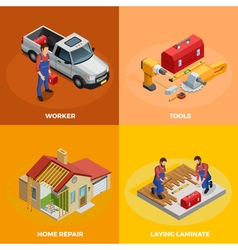 Home Improvement Isometric Template vector image