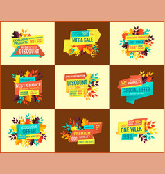 hot price with special offer banners for sale vector image