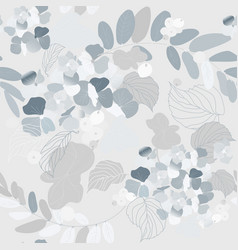 hydrangea flowers decorative berries and leaves vector image