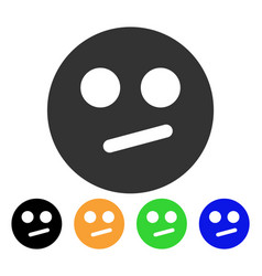 Indifferent smiley icon vector
