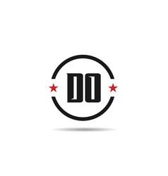 initial letter do logo template design vector image