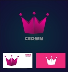 King crown logo icon company vector image