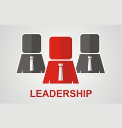 leadership concept vector image
