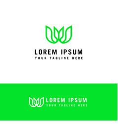 letter w logo icon initial letter w design logo vector image