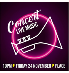 Live music concert vector