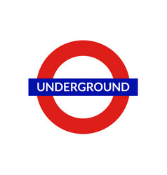 london underground sign metro tube subway vector image