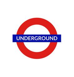 London underground sign metro tube subway vector