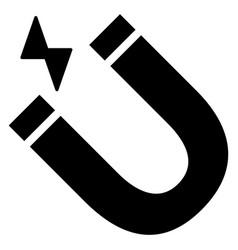 magnet black icon vector image