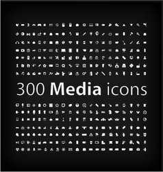 Media Icon set office media mobile icon vector