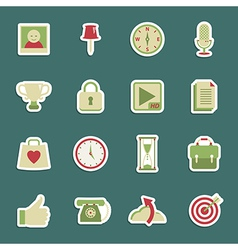 Media stickers vector