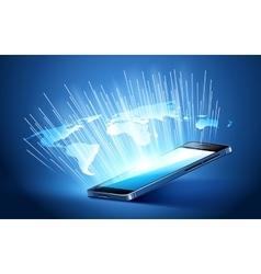 Modern mobile technology vector