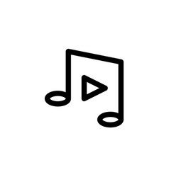 music player icon with line style vector image