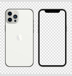 Newly released iphone 13 pro max silver color vector