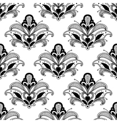Ornate floral persian seamless pattern vector image
