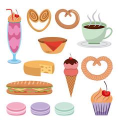 Pastry dessert sweet vector