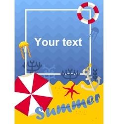 poster summer beach vector image