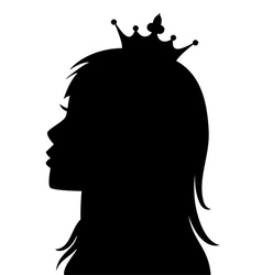 profile princess vector image