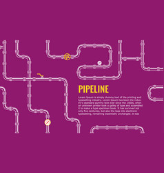 purple industrial background with white pipes vector image