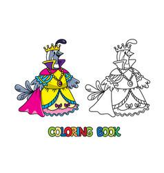 Quail queen abc coloring book alphabet q vector