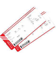 realistic airline ticket and boarding pass design vector image