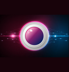 realistic circle pink and blue button on abstract vector image