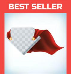 red hero cape super cloak satin fabric vector image