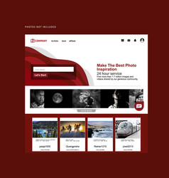 Red landing page vector