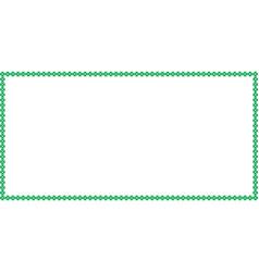 Saint patricks day rectangle border made of vector