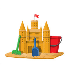 sand castle or handmade sculpture vector image