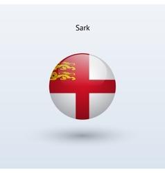 Sark round flag vector image