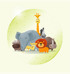 save wild animal concept vector image