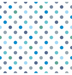 Seamless pattern blue polka dots background vector
