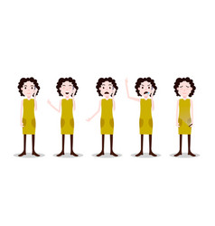 set teen girl character different poses and vector image