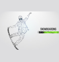 silhouette a snowboarder vector image