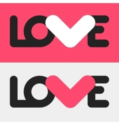 Simple flat LOVE design vector