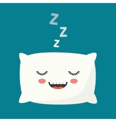 sleeping Pillow vector image