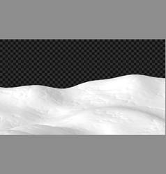 snowy landscape isolated on dark transparent vector image