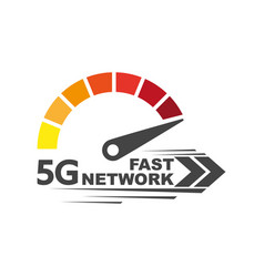 Speed internet 5g abstract symbol speed 5g vector