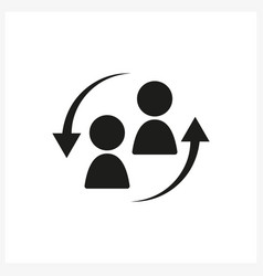 staff turnover icon in simple black design vector image