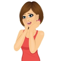 surprised beautiful woman vector image