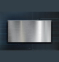 technology background with a metal plate vector image