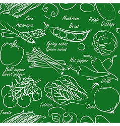 vegetables seamless2 vector image