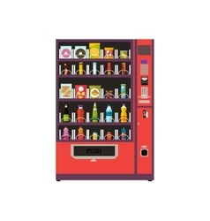 Vending machine product items set vector image