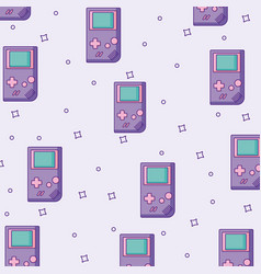 Videogame devices background vector