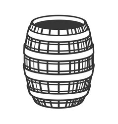 wine wooden barrel icon on white background vector image