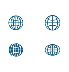 wire world icon template vector image